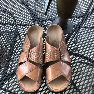 Clarks Woven Leather Sandals
